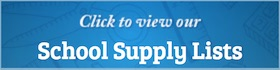 classic blue school supply lists banner